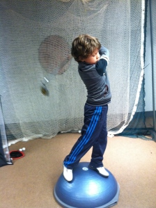 Future star!  Never too early to start.