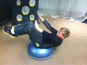 Core strength and balance!